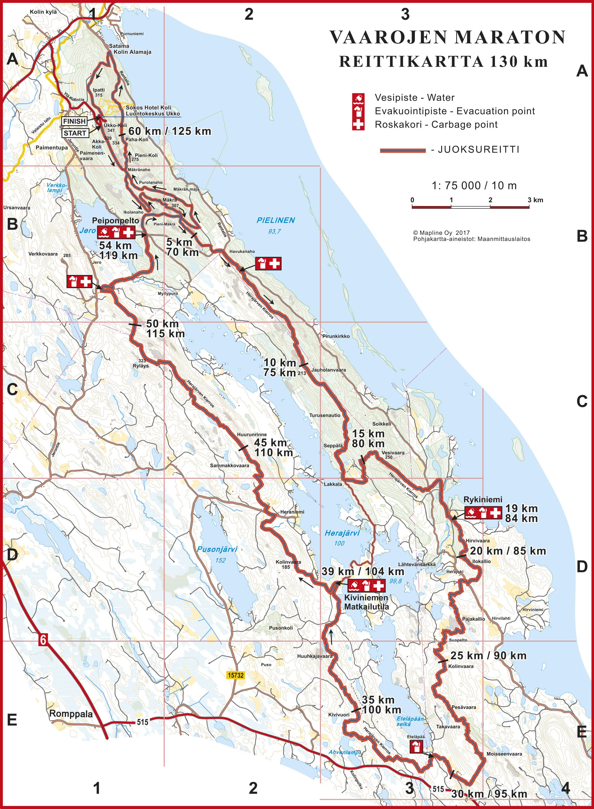 Vaarojen Maraton 65 Km