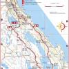 42,5 km reitin kartta